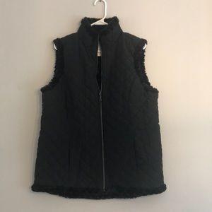 NWT. Denim & Co Vest, Reversible